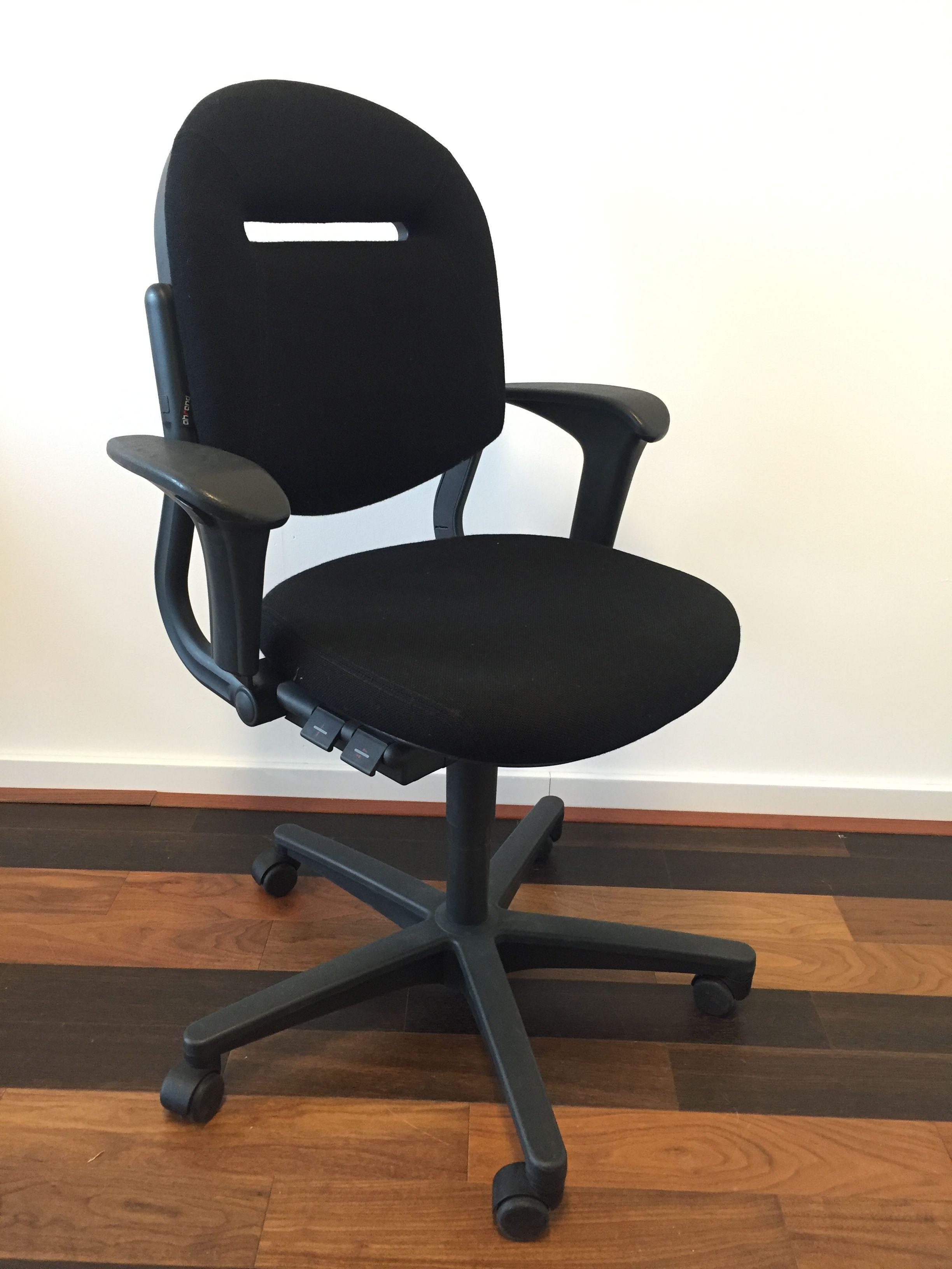 Ahrend 220 Bureaustoel Zwart.Ahrend 220 Bureaustoel Nieuw Zwart Gestoffeerd